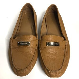 VEUC Coach Fredrica Pebbled Leather Loafer Sz 8.5